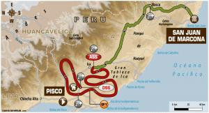 Carte Etape 3 Dakar 2018