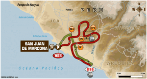 Carte Etape 4 Dakar 2018