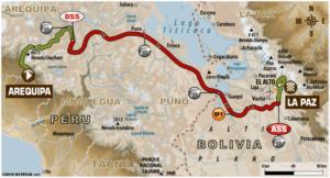Carte Etape 6 Dakar 2018