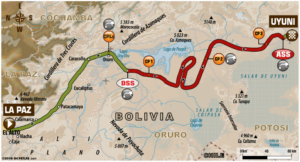 Carte Etape 7 Dakar 2018