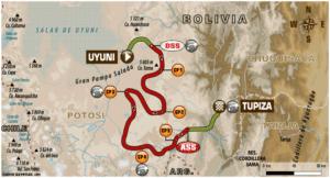 Carte Etape 8 Dakar 2018