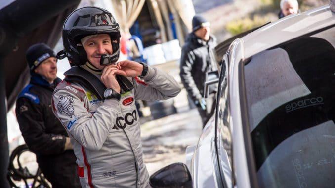 Bryan Bouffier sort en reconnaissance ce matin, son copiloteJérôme Degout remplacé parXavier Panseri