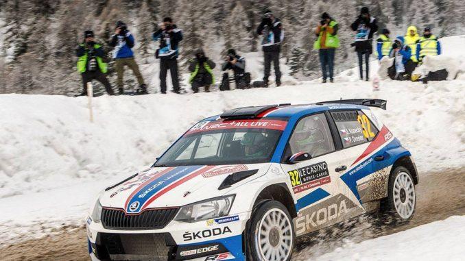 Kopecky (Skoda Fabia R5) survole le WRC2 au Monte-Carlo 2018