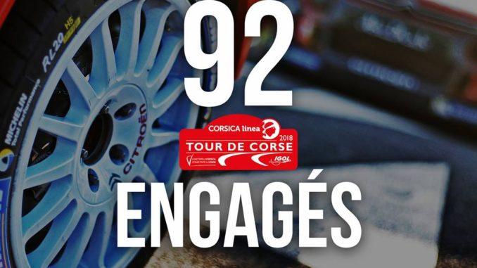 Liste des engagés Tour de Corse 2018
