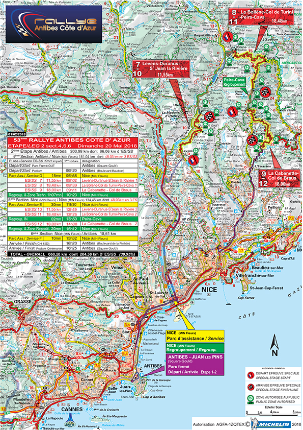 Cartes Rallye Antibes 2018