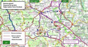 Cartes généralesdu Rallye Castine Terre d'Occitanie 2018