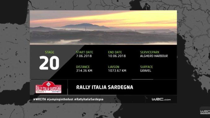 Toutes les spéciales du Rallye Sardaigne 2018