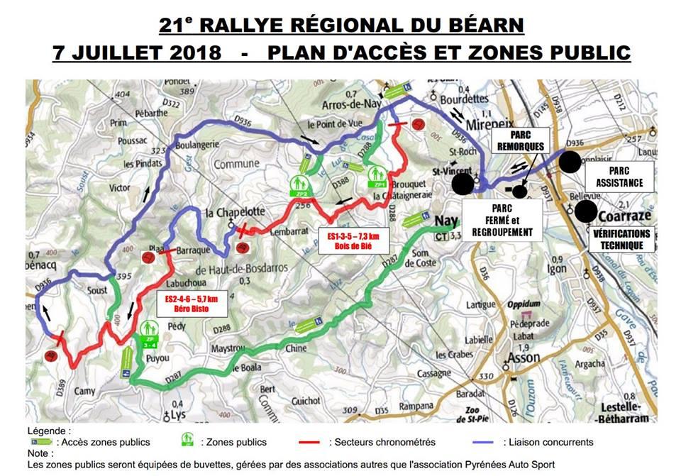 Programme et cartes Rallye Béarn 2018