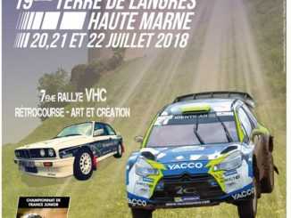 Programme et cartes Rallye Terre de Langres 2018