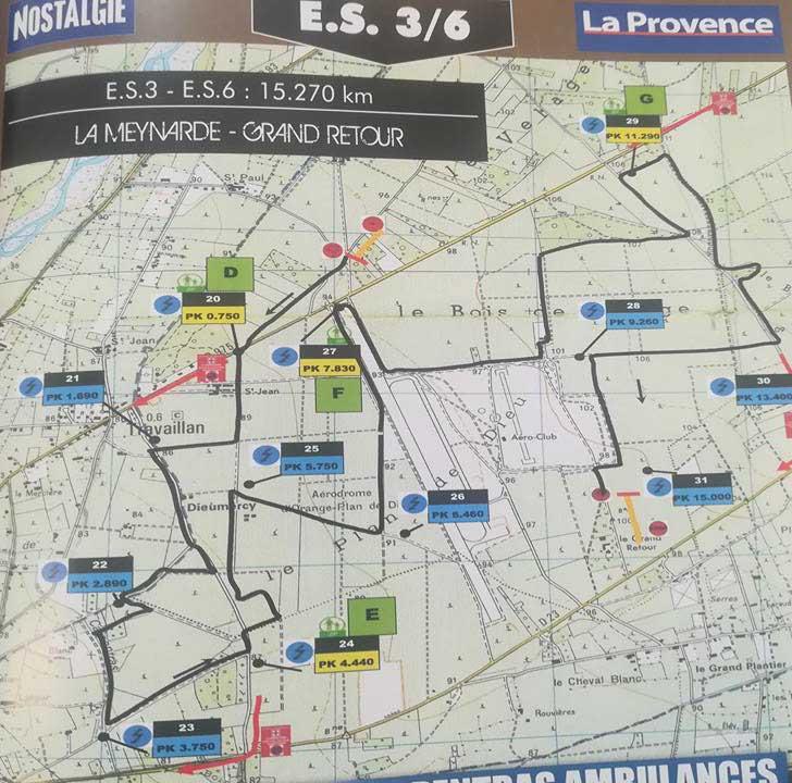 Carte ES3 Rallye Terre de Vaucluse 2018