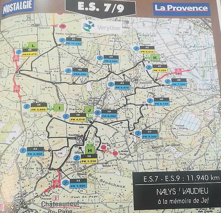 Carte ES7 Rallye Terre de Vaucluse 2018