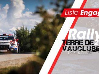 Engagés Rallye Terre de Vaucluse 2018