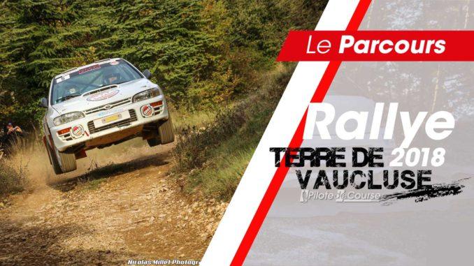 Programme et cartes Rallye Terre de Vaucluse 2018