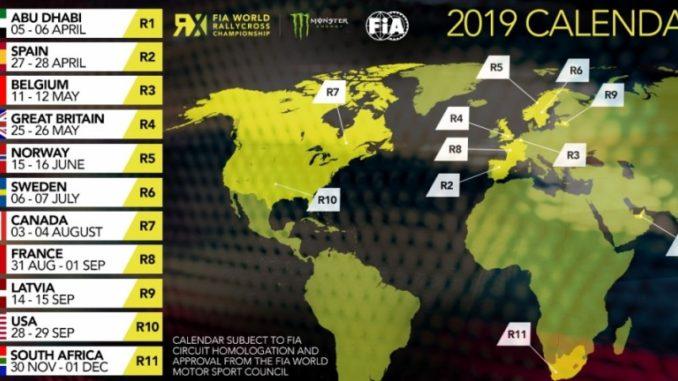 Calendrier World RallyCross 2019