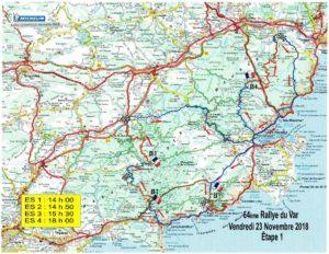 Carte Rallye Var 2018 Etape 1