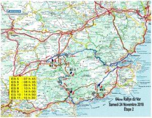 Carte Rallye Var 2018 Etape 2