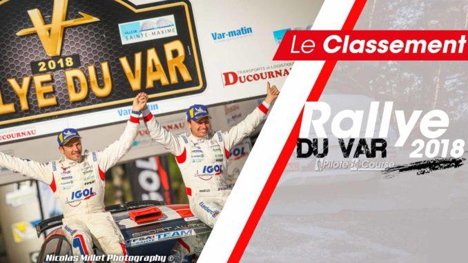 Classement Rallye du Var 2018
