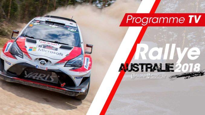 Programme TV Rallye Australie 2018