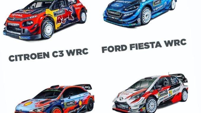 Les Teams et les pilotes en WRC pour 2019
