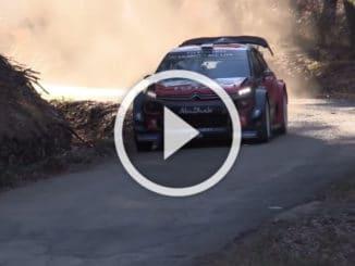 Ogier en essais avec la Citroen C3 WRC