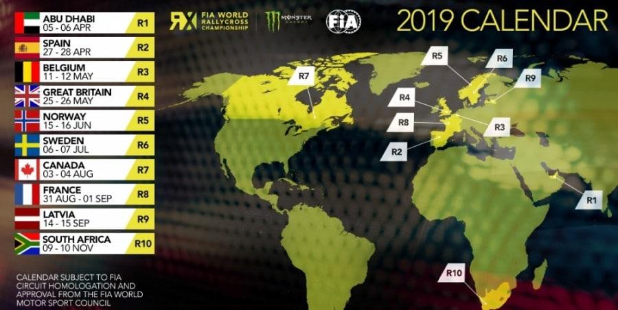 Calendrier World RX 2019 Nouveau pas en arrière pour le World RX
