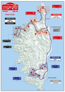 carte Tour de Corse 2019