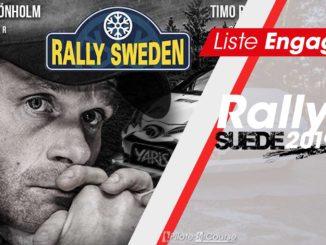 Liste des engagés Rallye Suède 2019