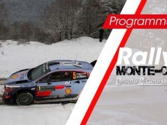 Programme TV Rallye Monte-Carlo 2019