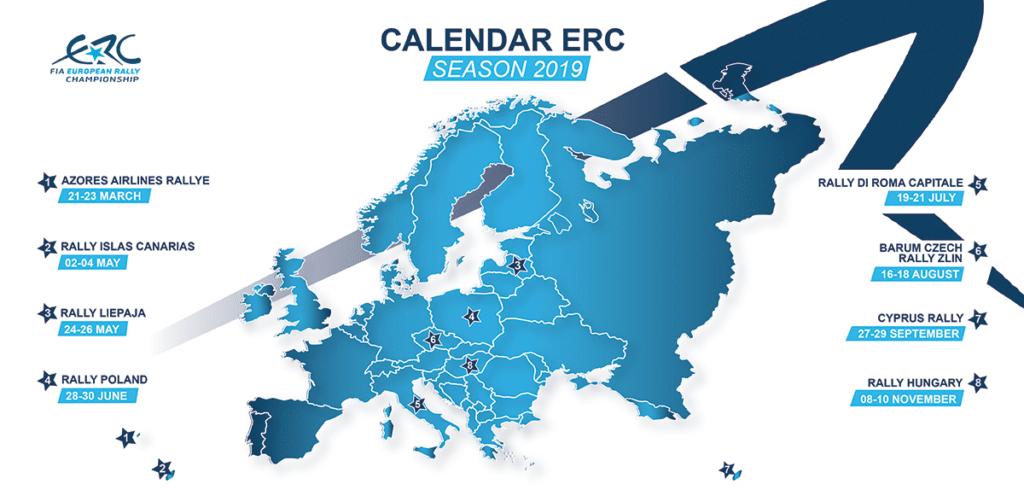 calendrier ERC 2019