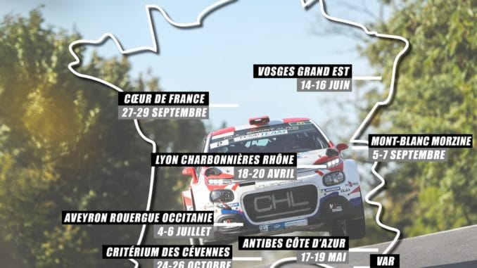 calendrier championnat France rallyes 2019