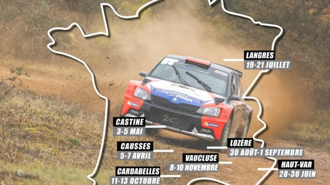 calendrier championnat de France rallye terre 2019