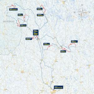 Carte général Rallye de Suède 2019