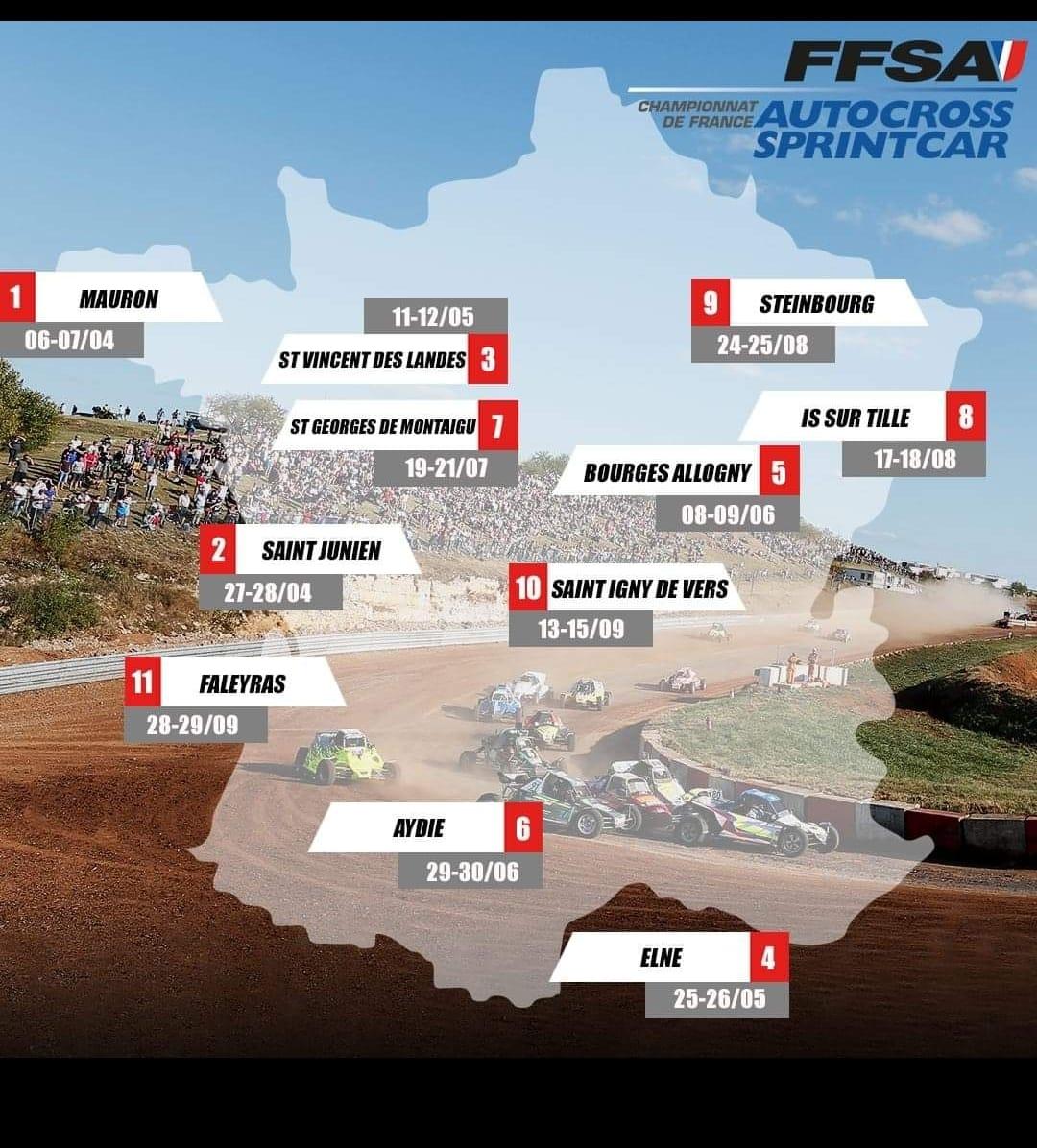 Calendrier RallyCross   Page 2 sur 6   Pilote de Course   Rallye