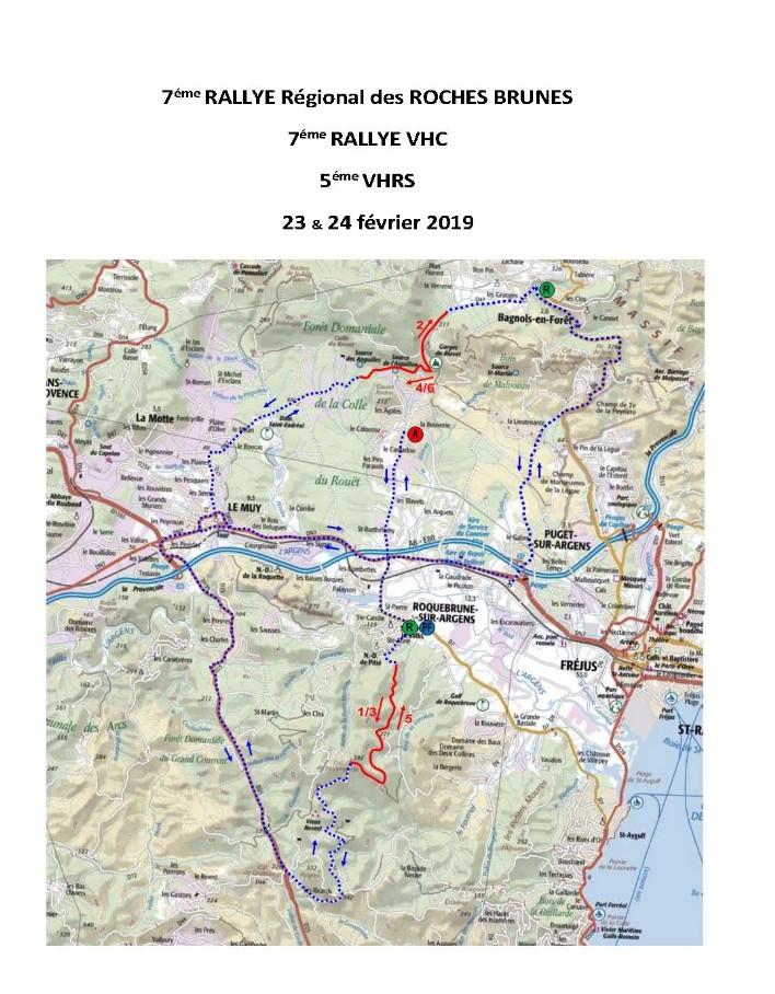 Carte générale Rallye des Roches Brunes 2019