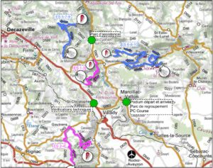 Carte Rallye du Vallon de Marcillac 2019