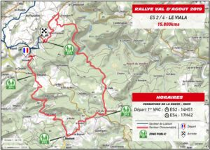 Carte Rallye Val d'Agout 2019