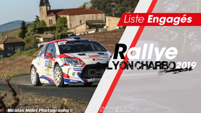 Engagés Rallye Lyon Charbonnières 2019