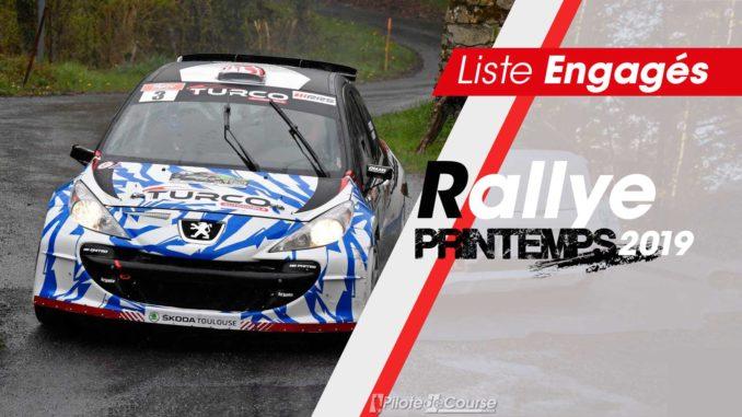 Engagés Rallye de Printemps 2019