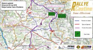 Cartes Rallye Castine 2019 dimanche