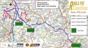 Cartes Rallye Castine 2019 Samedi