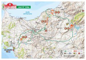 Carte Rallye Sardaigne 2019 Vendredi