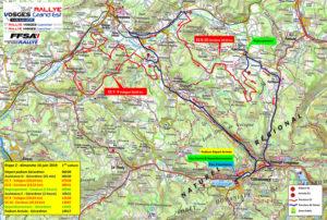 Carte Rallye Vosges Grand Est 2019 Dimanche