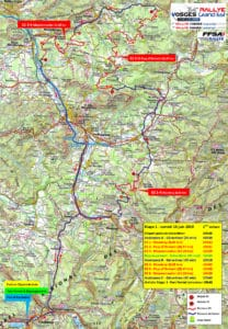Carte Rallye Vosges Grand Est 2019 Samedi