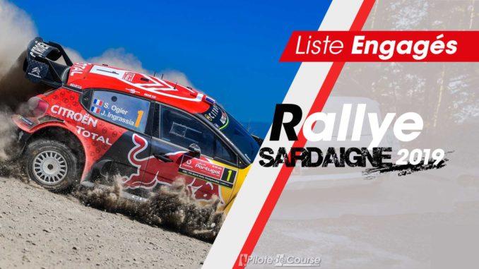 Engagés rallye Sardaigne 2019