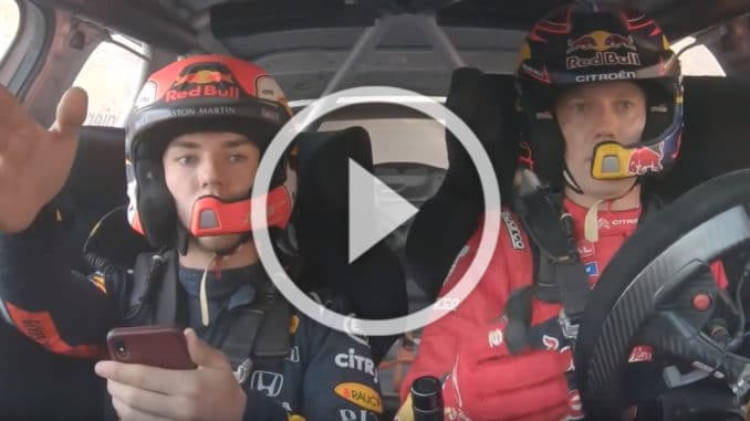 Ogier et Gasly en C3 WRC
