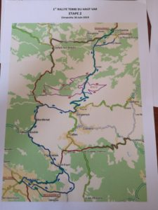 carte général Rallye Terre du Haut Var 2019