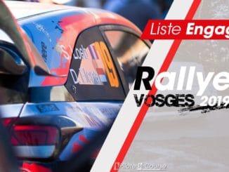 Engagés Rallye Vosges Grand Est 2019