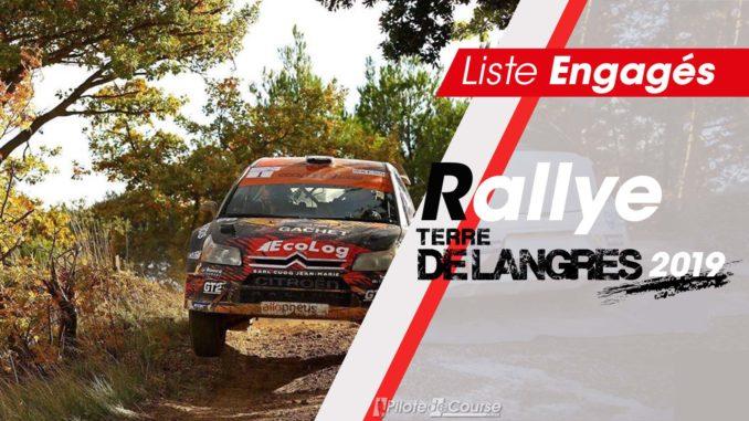 Engagés Rallye Terre de Langres 2019