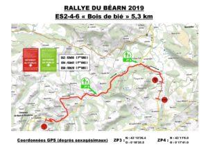 Carte Rallye du Béarn 2019