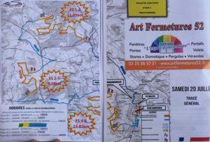 carte Rallye Terre de Langres 2019 Dimanche